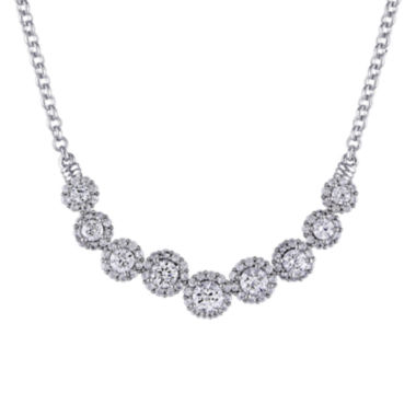 jcpenney.com | Lab-Created White Sapphire Sterling Silver Collar Necklace