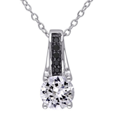 jcpenney.com | 1/6 CT. T.W. Color-Enhanced Black Diamond & Lab-Created White Sapphire Necklace