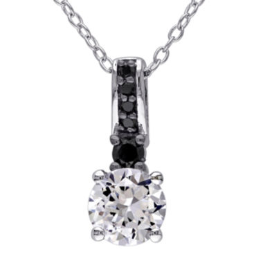 jcpenney.com | 1/7 CT. T.W. Color-Enhanced Black Diamond & Lab-Created Sapphire Necklace