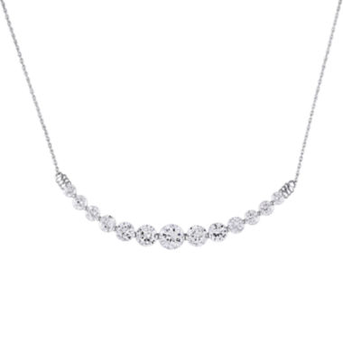 jcpenney.com | Lab-Created White Sapphire 10K White Gold Necklace