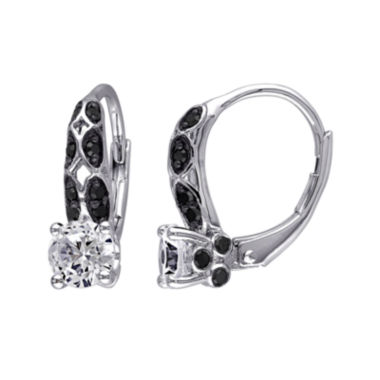 jcpenney.com | 1/3 CT. T.W. Color-Enhanced Black Diamond & Lab-Created White Sapphire Earrings