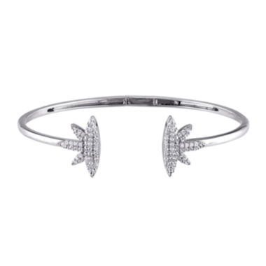 jcpenney.com | Lab-Created White Sapphire Sterling Silver Cuff Bracelet