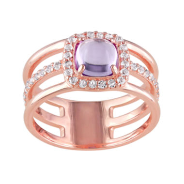 jcpenney.com | Genuine Amethyst and White Topaz Split-Band Ring
