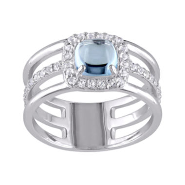 jcpenney.com | Genuine Blue and White Topaz Split-Band Ring