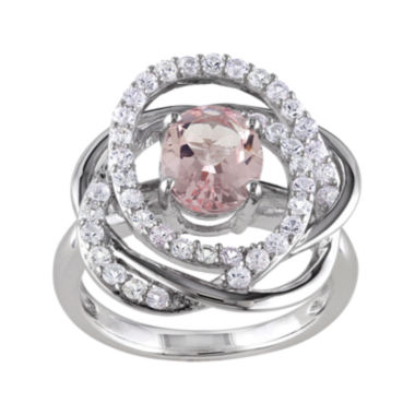 jcpenney.com | Genuine Pink Morganite and White Sapphire Sterling Silver Ring
