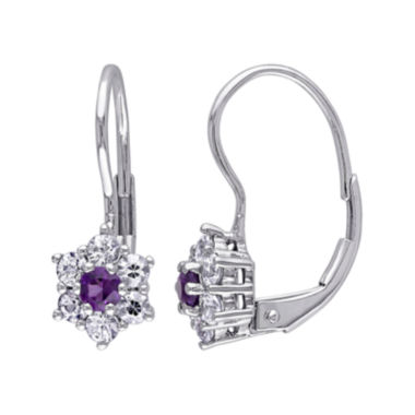 jcpenney.com | Genuine Amethyst and White Sapphire 10K White Gold Earrings