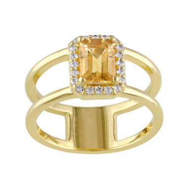jcpenney.com | Genuine Citrine and Diamond-Accent Split-Band Ring