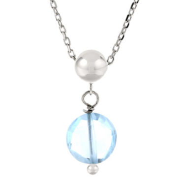jcpenney.com | Genuine Blue Topaz Sterling Silver Drop Pendant Necklace