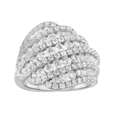 jcpenney.com | 3 CT. T.W. Diamond 10K White Gold Swirl Cocktail Ring
