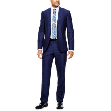 jcpenney.com | JF J. Ferrar® Blue End-on-End Suit Separates - Slim Fit