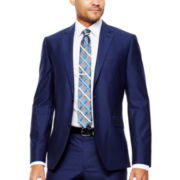 JF J. Ferrar® Blue End-on-End Suit Jacket - Slim Fit