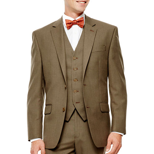 IZOD® Light Brown Sharkskin Suit Jacket - Classic Fit