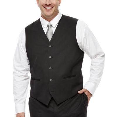 Claiborne® Black Suit Vest - Big & Tall