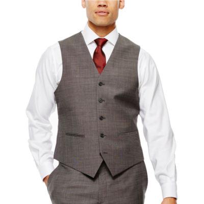 Claiborne® Black & White Nailhead Suit Vest - Classic Fit