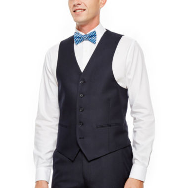 jcpenney.com | IZOD® Navy Plaid Vest - Classic Fit