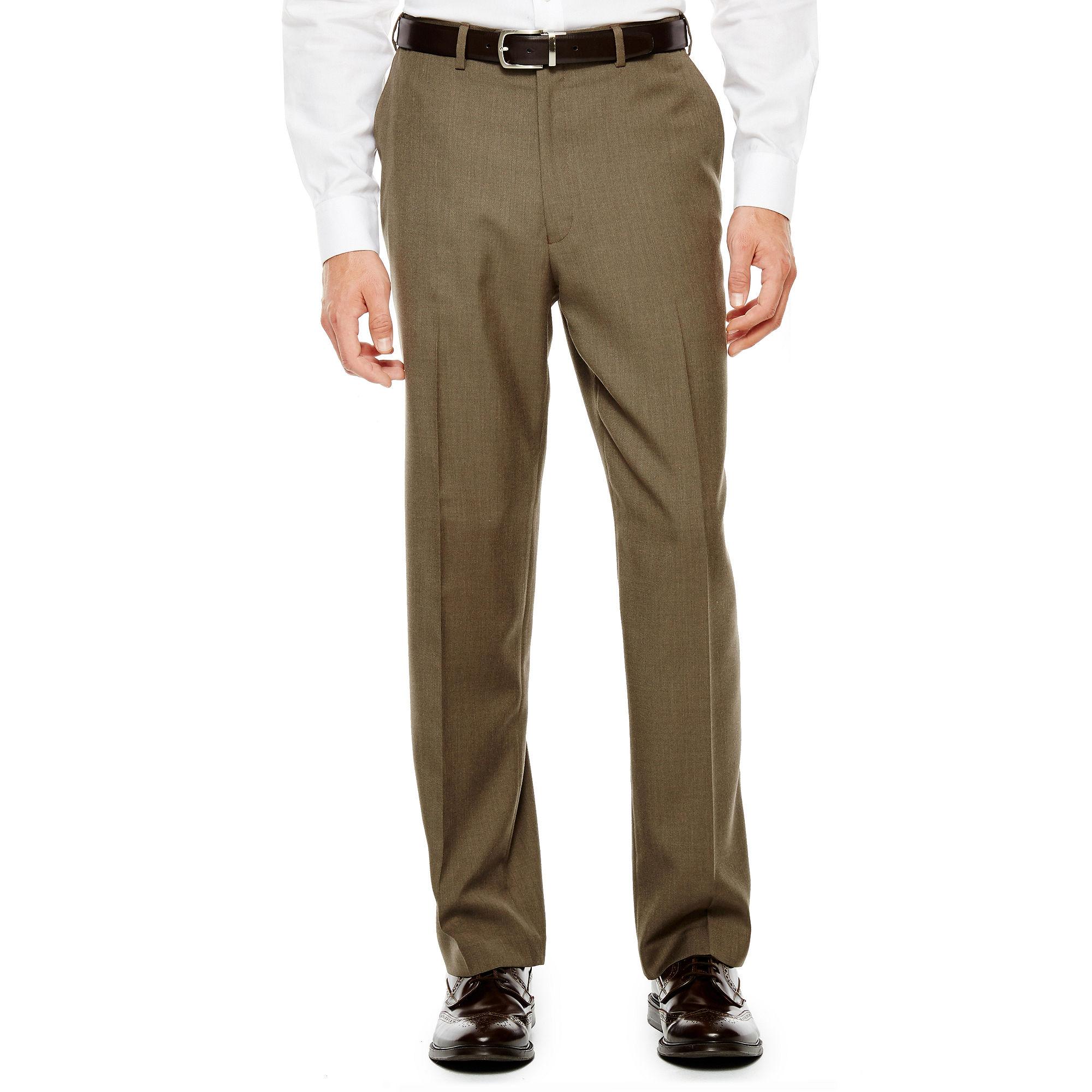 IZOD Light Brown Sharkskin Flat-Front Suit Pants - Classic Fit plus size,  plus size fashion plus size appare