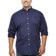 U.S. Polo Assn.® Long-Sleeve Solid Twill Shirt - Big & Tall