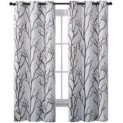 Victoria Classics Kingdom Print Blackout Grommet-Top Curtain Panel
