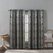 Victoria Classics Madeline Jacquard Rod-Pocket Curtain Panel