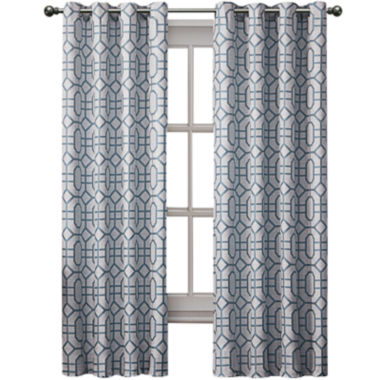 jcpenney.com | VCNY Tribeca Jacquard Grommet-Top Curtain Panel