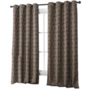 Victoria Classics Trinity Jacquard Grommet-Top Curtain Panel