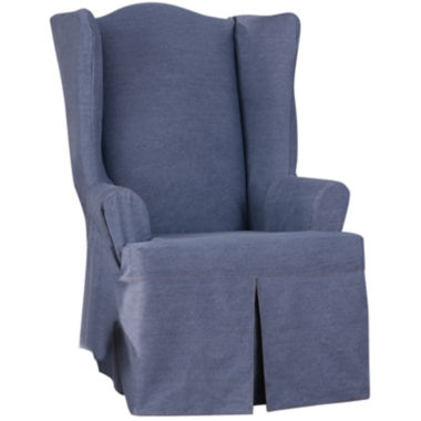 jcpenney.com | SURE FIT® Authentic Denim Wing Chair Slipcover