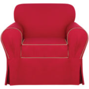 SURE FIT® Monaco Contrast Trim with Corner Pleats 1-pc. Chair Slipcover