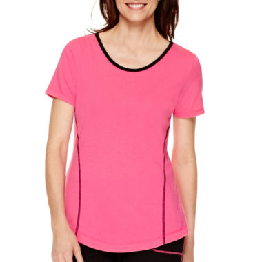 jcpenney.com | Made For Life™ Short-Sleeve Contrast-Trim T-Shirt