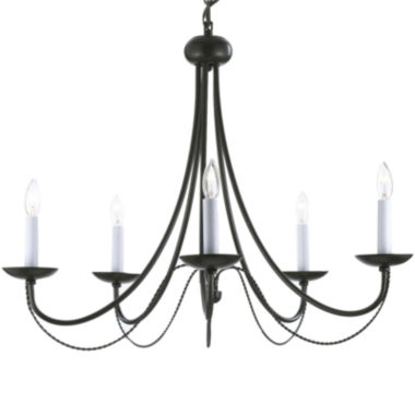 jcpenney.com | 5-Light Contemporary Wrought Iron Chandelier