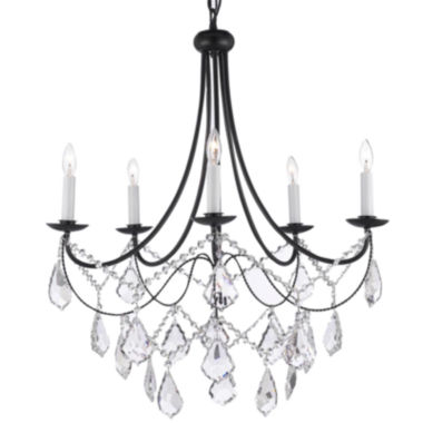 jcpenney.com | Empress Crystal 5-Light Wrought Iron Chandelier