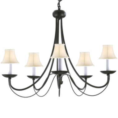 jcpenney.com | Contemporary Black Wrought Iron Chandelier