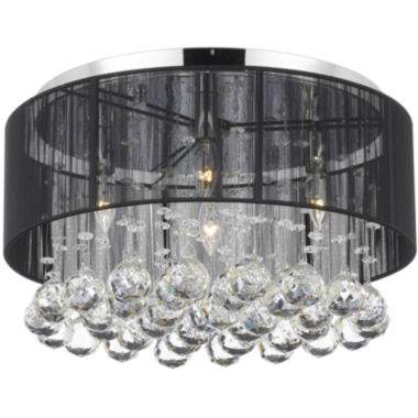 jcpenney.com | Flush-Mount Crystal Chandelier with Shade