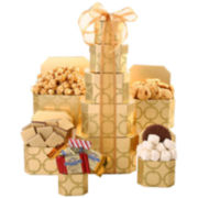 Alder Creek Golden Sweets Gift Tower