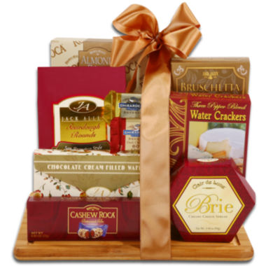 jcpenney.com | Alder Creek Burgundy & Gold Sweet and Savory Cutting Board Gift Set