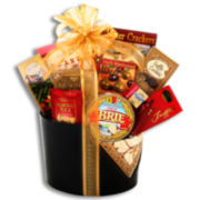 Alder Creek Limited Edition Sweet and Savory Faux-Leather Gift Basket