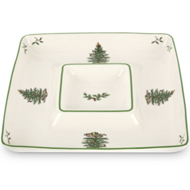 jcpenney.com | Spode® Christmas Tree Square Porcelain Chip and Dip Server