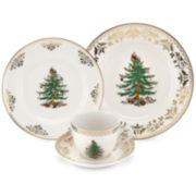 Spode® Christmas Tree Gold Collection 4-pc. Porcelain Place Setting