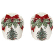 Spode® Christmas Tree Ribbon Collection Salt and Pepper Shaker Set