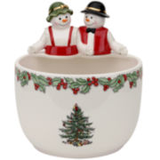 Spode® Christmas Tree Mr. & Mrs. Snowman Candy Bowl