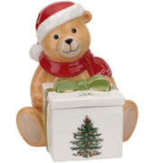 Spode® Christmas Tree Teddy Bear Candy Box