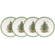 Spode® Christmas Tree Set of 4 Salad Plates