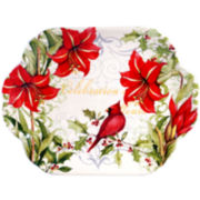 Certified International Botanical Christmas Rectangular Platter