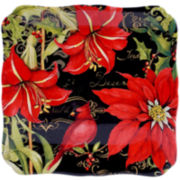 Certified International Botanical Christmas Square Platter