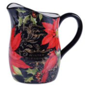 Certified International Botanical Christmas 3-qt. Pitcher