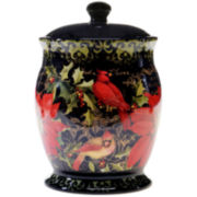 Certified International Botanical Christmas Biscuit Jar