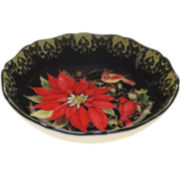 Certified International Botanical Christmas Pasta Serving Bowl