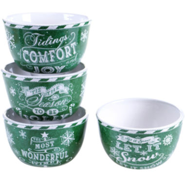 jcpenney.com | Certified International Chalkboard Christmas Set of 4 Ice Cream Bowls