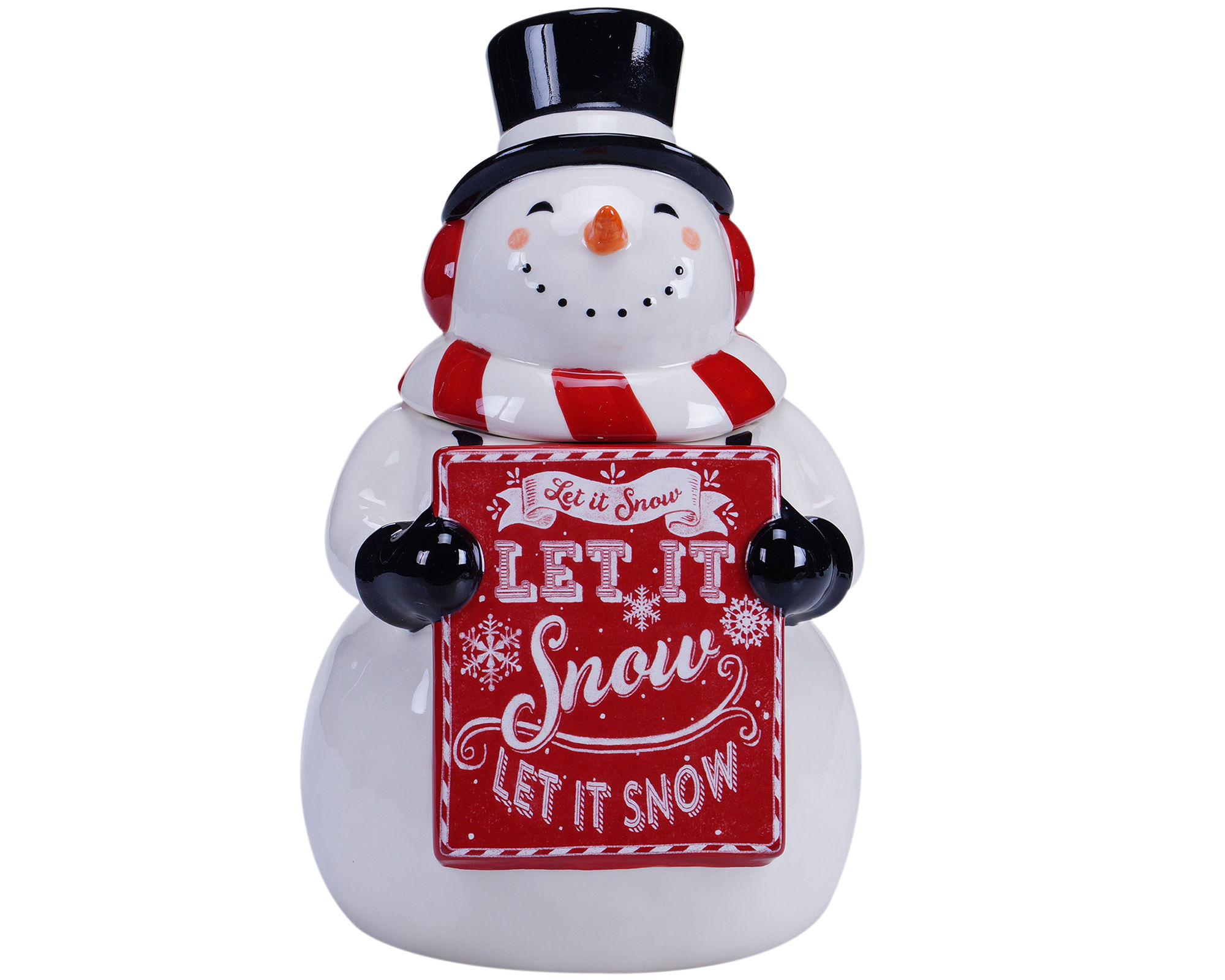 Certified International Chalkboard Christmas Snowman Cookie Jar