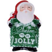Certified International Chalkboard Christmas Santa Platter