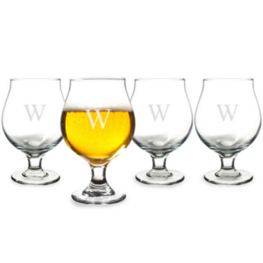 jcpenney.com | Cathy's Concepts Personalized Set of 4 Belgian Beer Glasses